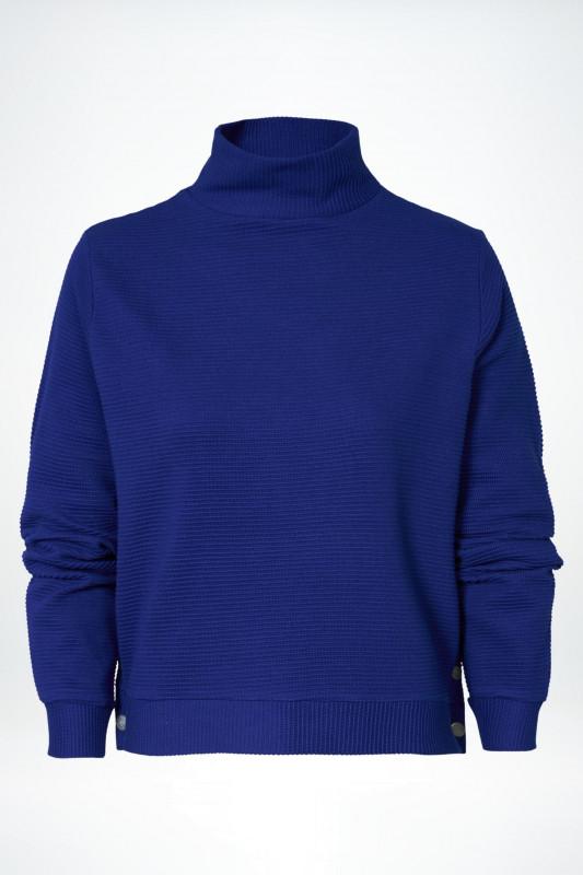 """PETROL Damen Pullover - """"Sweater Collar cobalt blue"""""""