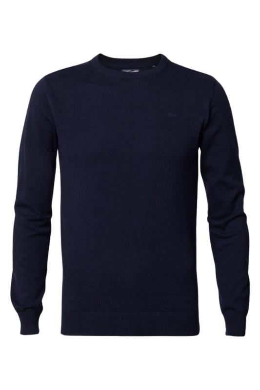 "PETROL Herren Pullover - ""Knitwear R-Neck deep navy"""