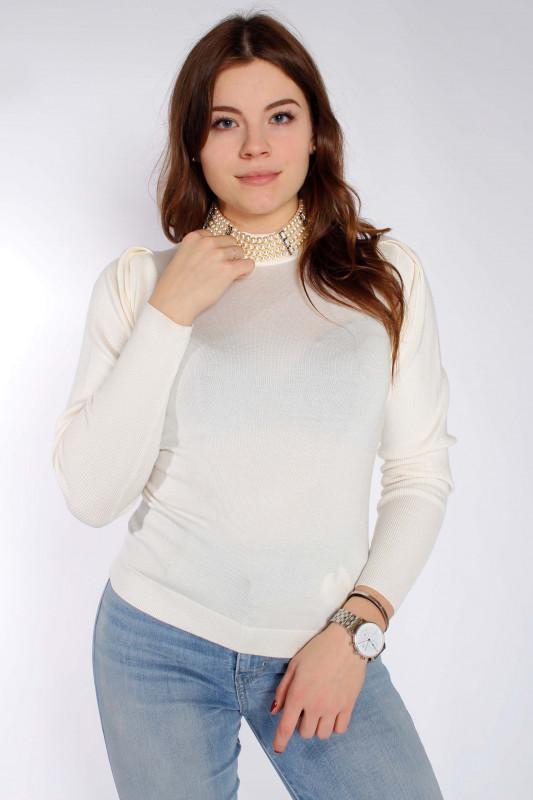 "LIU JO Damen Pullover - ""Maglia Chiusa M/L Bianco lana"""