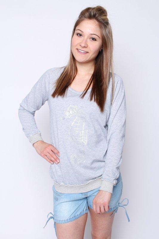 "STRANGE Damen Sweatshirt - ""SAMANTHA light grey melange"""