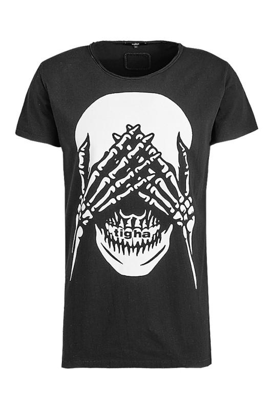 "Tigha Herren T-Shirt ""No Evil Wren black"""