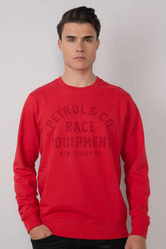 "PETROL Herren Sweatshirt - ""Men Sweater R-Neck lava orange"""
