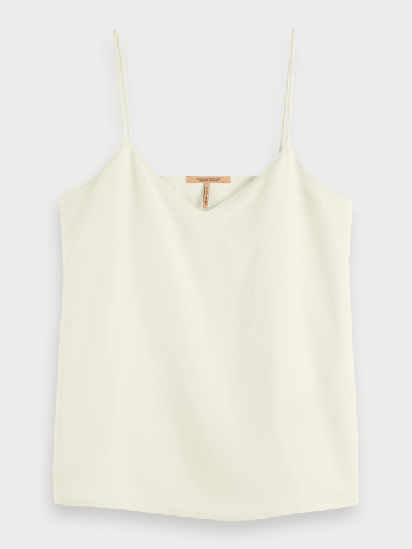 "SCOTCH & SODA Damen Top - ""Jersey Tank Top with woven fro"""