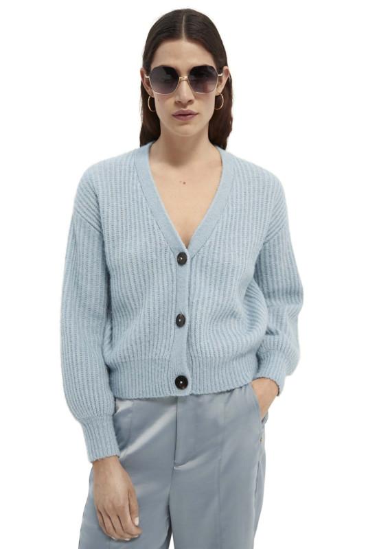 """SCOTCH & SODA Damen Strickjacke - """"Fuzzy boxy fit cardigan"""""""