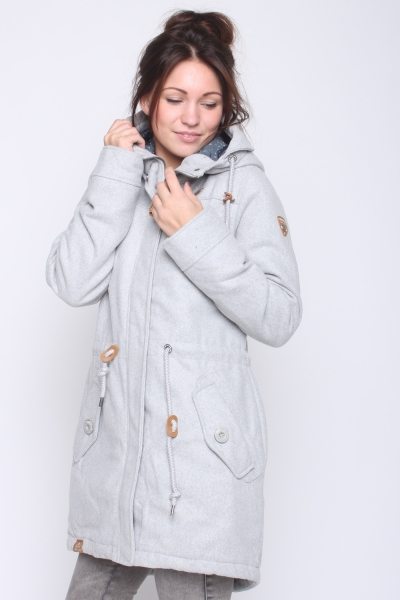 "RAGWEAR Damen Mantel - ""Elba Coat A light grey"""