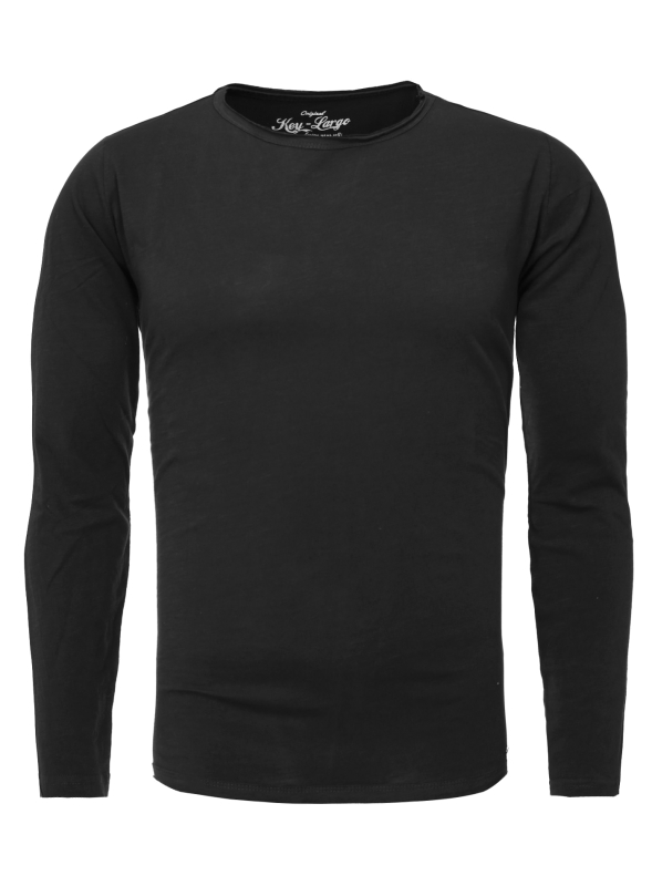 "KEY LARGO Herren Longsleeve - ""CHEESE round black"""