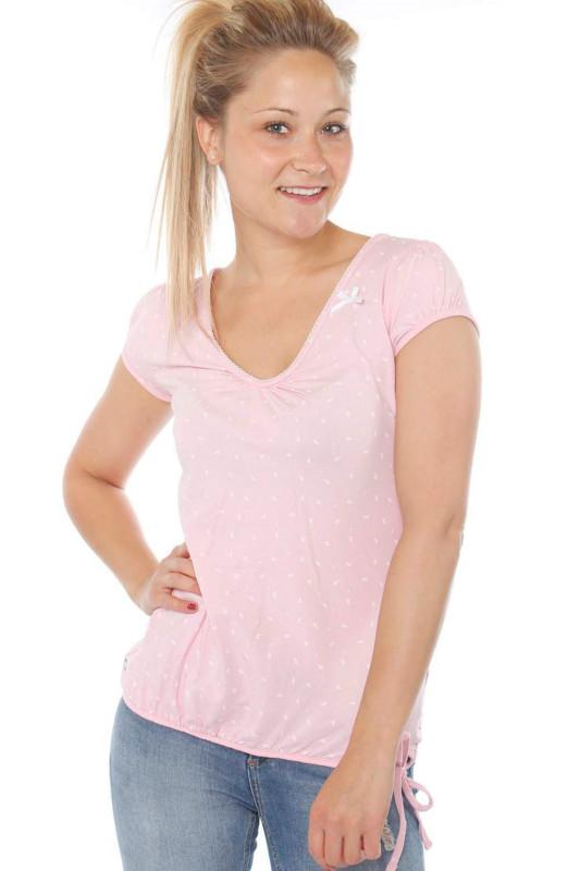 """STRANGE Damen T-Shirt - """"ILI 3 SS pearl pink / white leafs"""""""