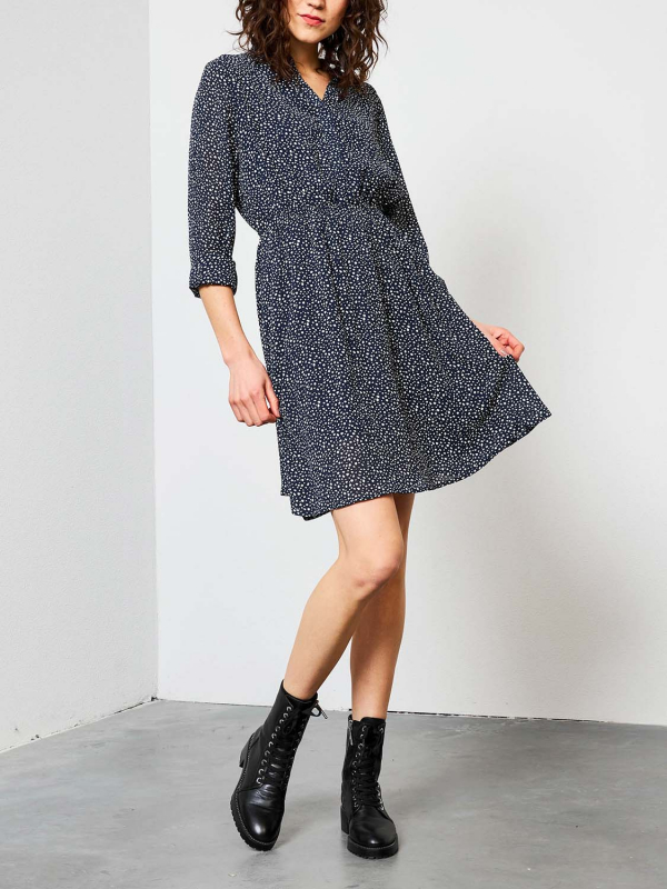 "PETROL Damen Kleid - ""Dress deep navy"""