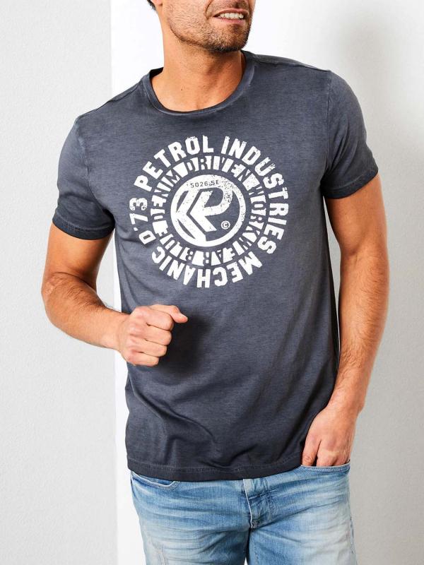 """PETROL Herren T-Shirt - """"T-shirt ss r-neck raven grey"""""""