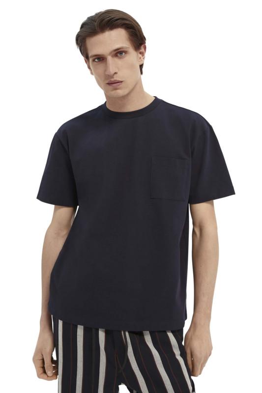 """SCOTCH & SODA Herren T-Shirt - """"Organic Cotton Pique Tee night"""""""