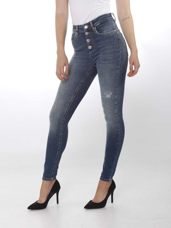 "ONLY Damen Jeans - ""BLUSH REA3278 dark"""