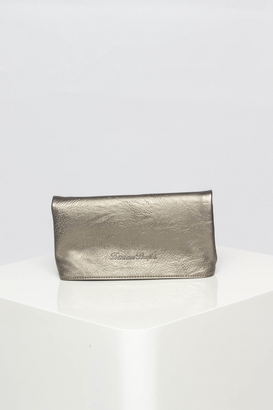 "FRITZI AUS PREUSSEN Damen Clutch - ""Ronja Small Saddle Bag new silver"""