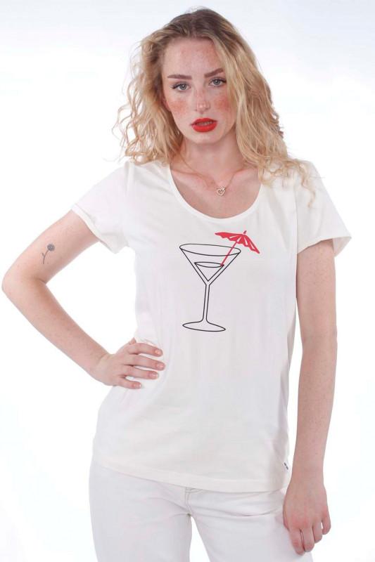 "STRANGE Damen T-Shirt - ""JULIANE white & cocktail"""