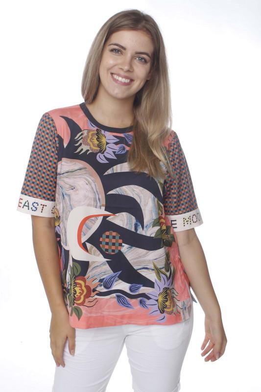 """SCOTCH & SODA Damen T-Shirt - """"Printed Top short combo A"""""""