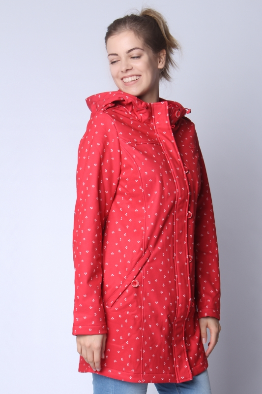 "STRANGE Damen Parka - ""SARAH red/cherries"""