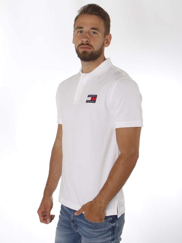 "TOMMY HILFIGER Herren Poloshirt - ""Badge Polo white"""