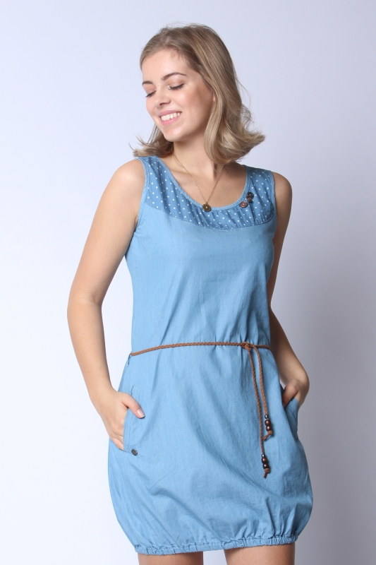 "STRANGE Damen Kleid - ""LEONORA light blue"""