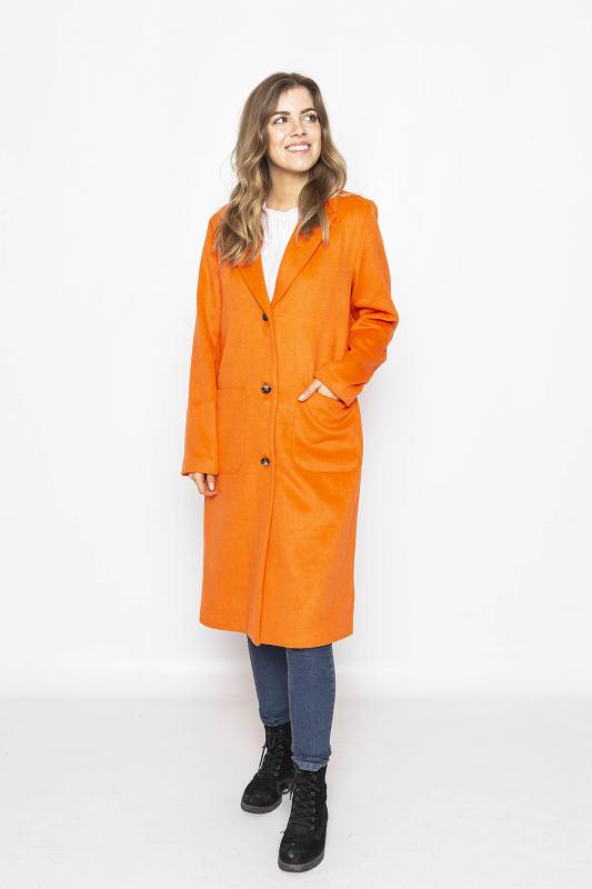 "FREEQUENT Damen Mantel - ""VENICE Jacket red orange"""
