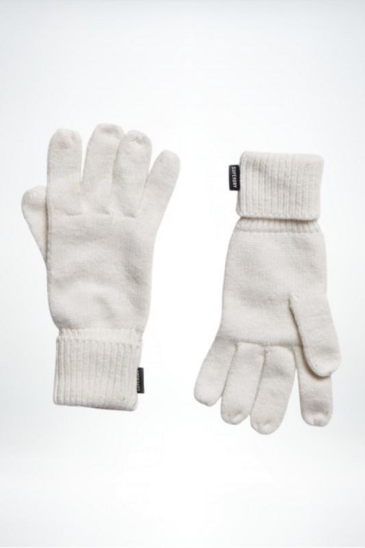 "Superdry Damen Handschuhe - ""Heritage Ribbed Gloves cream"""