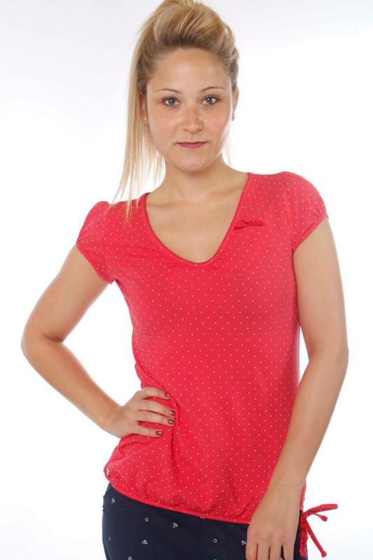 """STRANGE Damen T-Shirt - """"ILI 3 SS magenta / dots"""""""