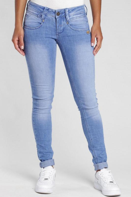 "Gang Damen Jeans - ""Nena Skinny Fit Jeans bright blue wash"""