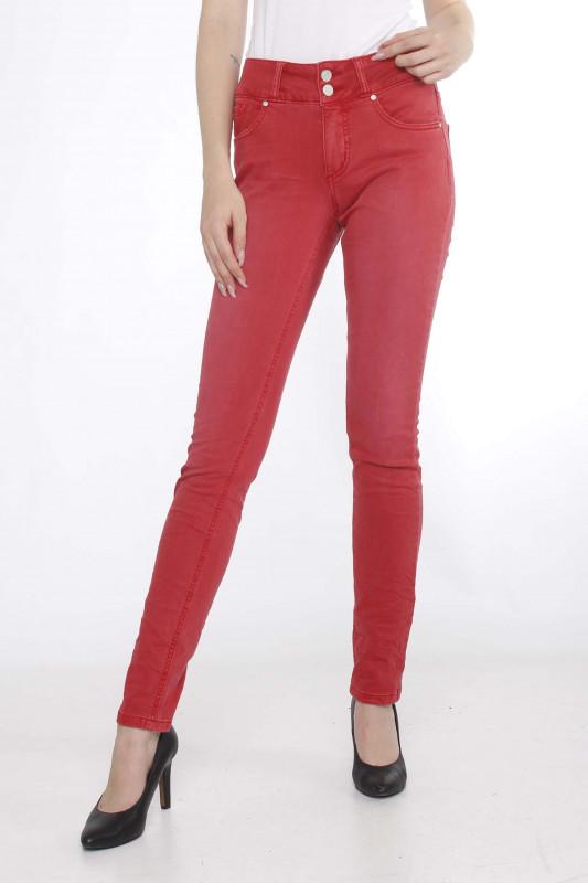 """BUENA VISTA Damen Jeans - """"TUMMYLESS Stretch Twill red"""""""