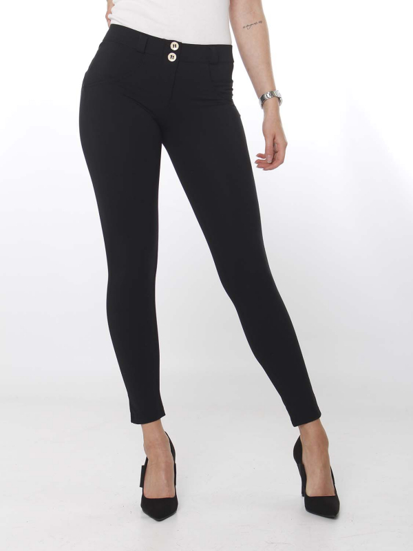 FREDDY WR.UP® - 7/8 Regular Waist Super Skinny - black - N - D.I.W.O.® Pro Beauty Effect