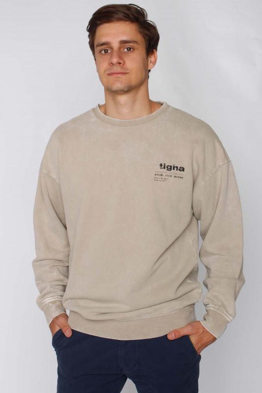 """TIGHA Herren Sweatshirt - """"Ciel vintage greige"""""""