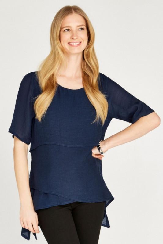 "APRICOT Damen T-Shirt - ""Layered slub"""