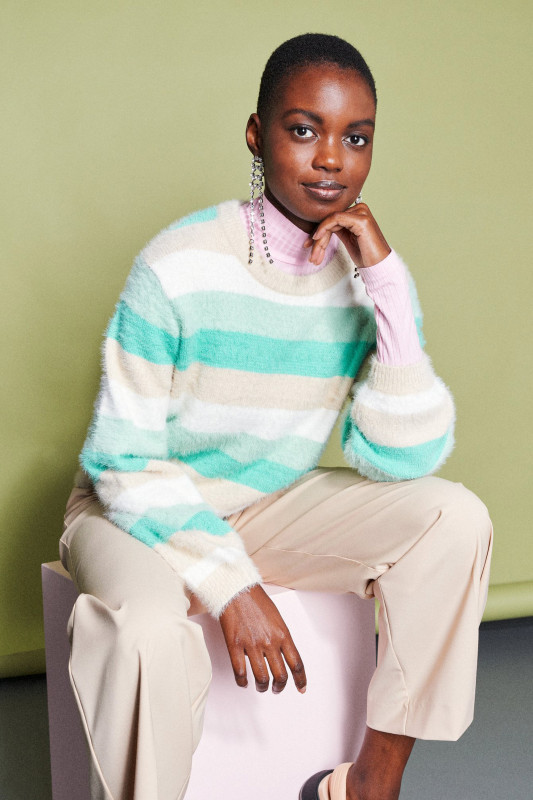 "Catwalk Junkie Damen Pullover-"" KN Spring Stripes cascade"""