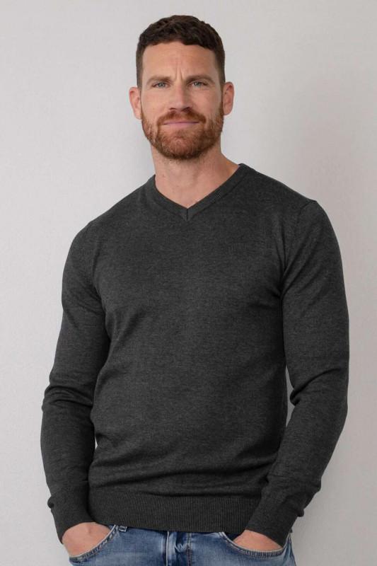 "PETROL Herren Strickpullover - ""Men Knitwear V-Neck black"""