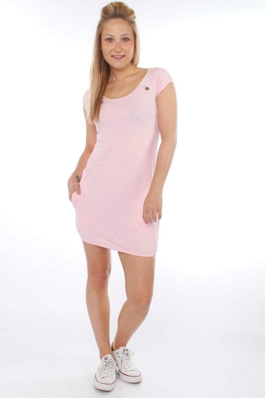 "STRANGE Damen Kleid - ""SINDY pearl pink / white leafs"""