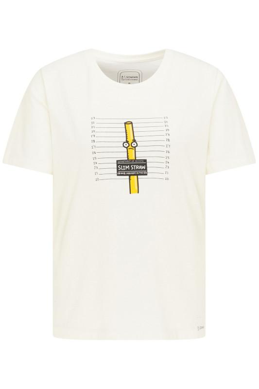 "\SOMWR Damen T-Shirt - ""Seized Slim Straw Tee white"""