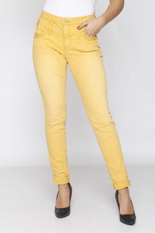 "BUENA VISTA Damen Jeans - ""Florida Stretch Twill ocker gelb"""