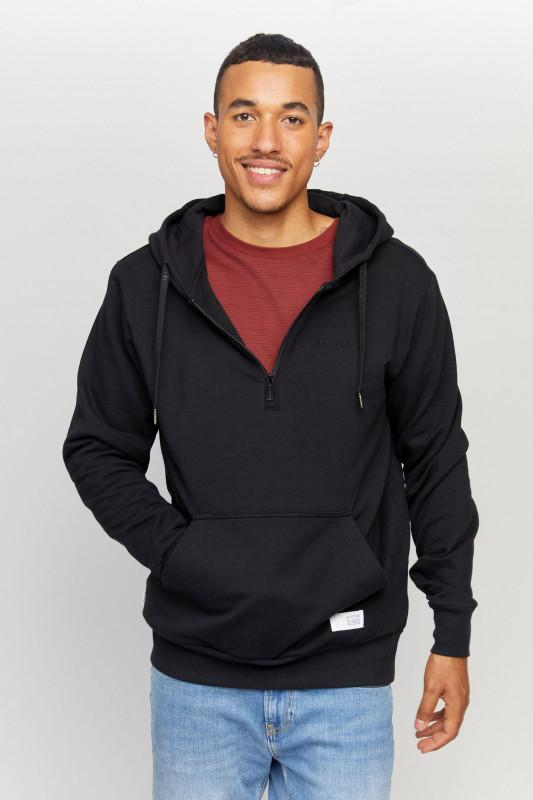 """MAZINE Herren Sweatshirt - """"Burwood half Zip black"""""""