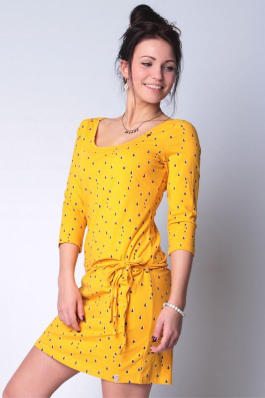"""STRANGE Damen Kleid - """"PENNY mustard / drops"""""""