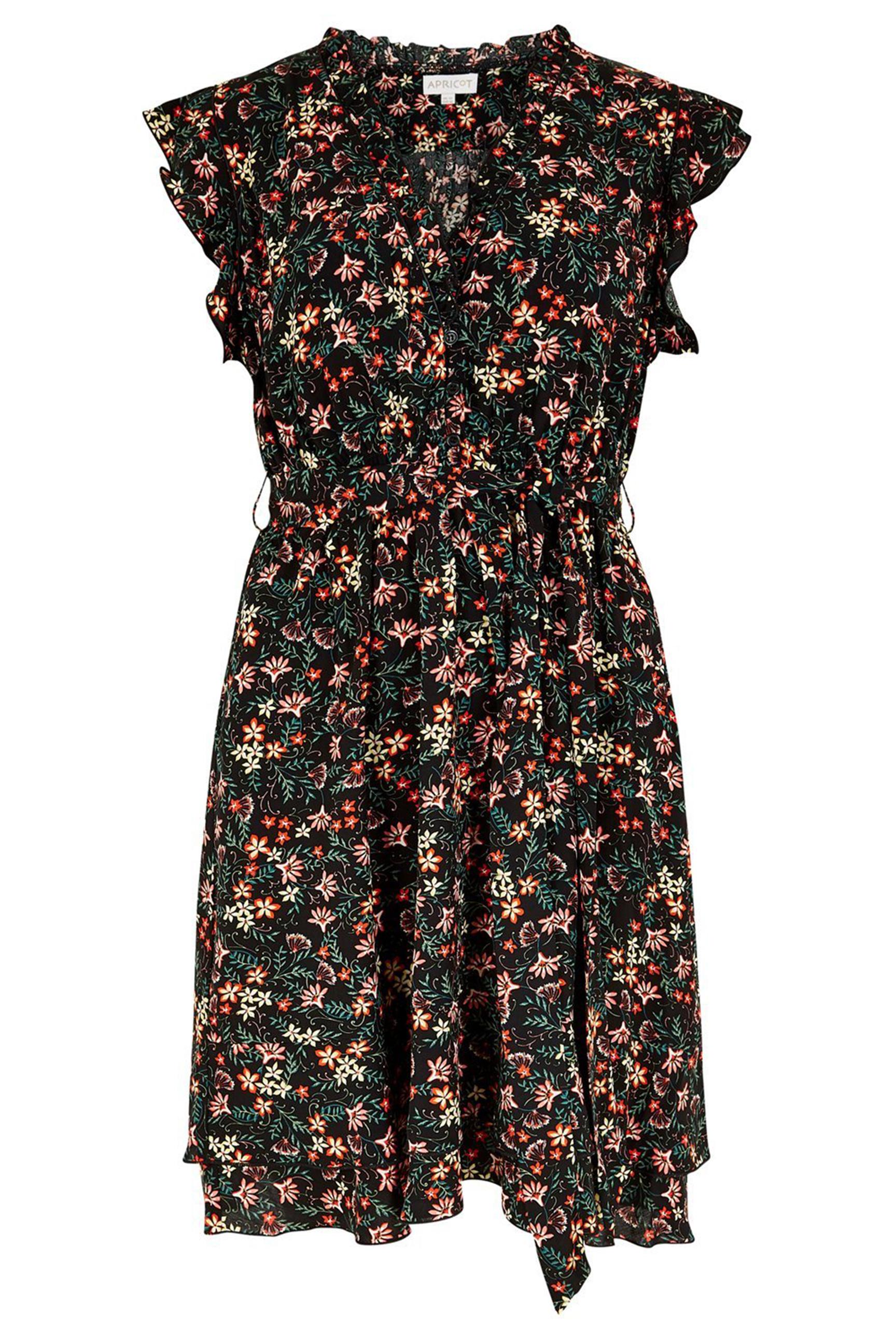 Apricot Damen Kleid Morris Dress Black Tayler Fashion