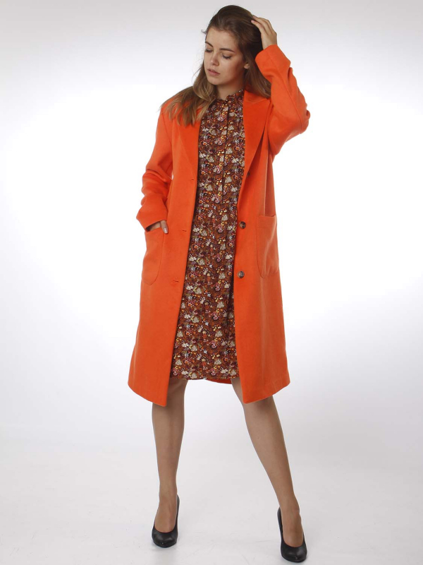 "FREEQUENT Damen Mantel - ""VENICE Jacket red orange"""