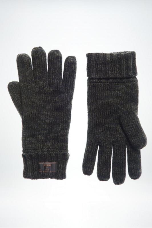 "SUPERDRY Herren Handschuhe - ""Stockholm Glove khaki/black twist"""
