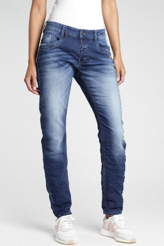 "Gang Damen Jeans - ""Gerda Relaxed Fit Deep Crotch Jeans tonic vint wash"""