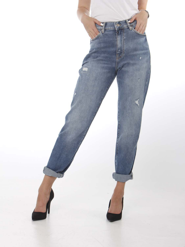 "CUP OF JOE Damen Jeans - ""LYNN medium blue"""