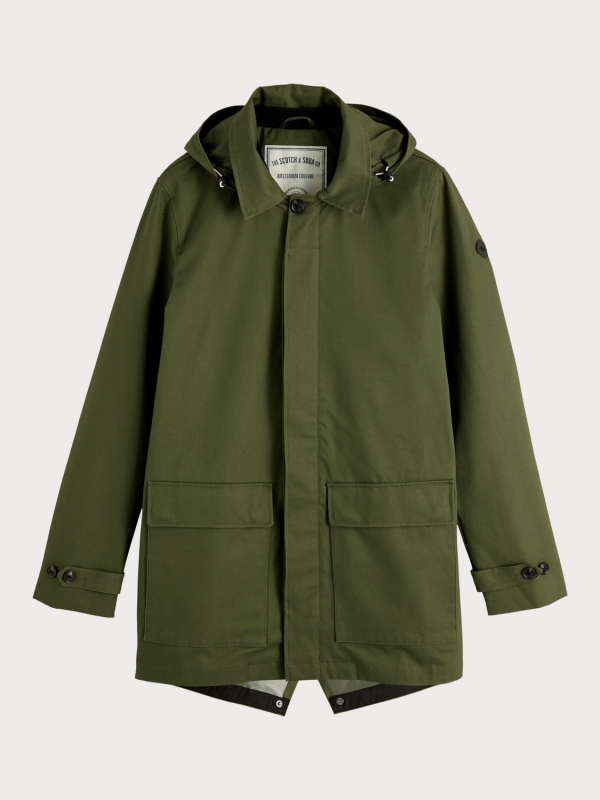 "Scotch & Soda Herren Jacke - ""Clean twill parka detachable h"""