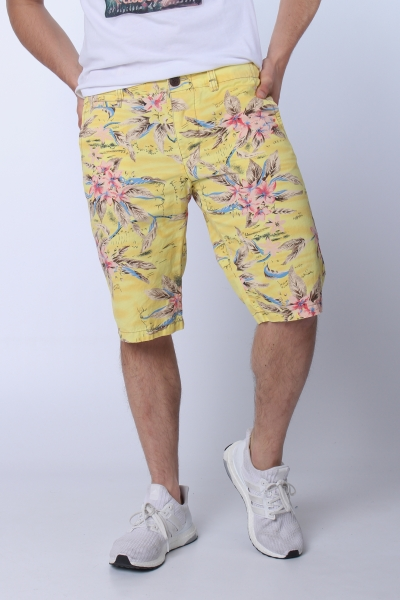 "JET LAG Herren Shorts - ""17-146 Urban yellow flower"""