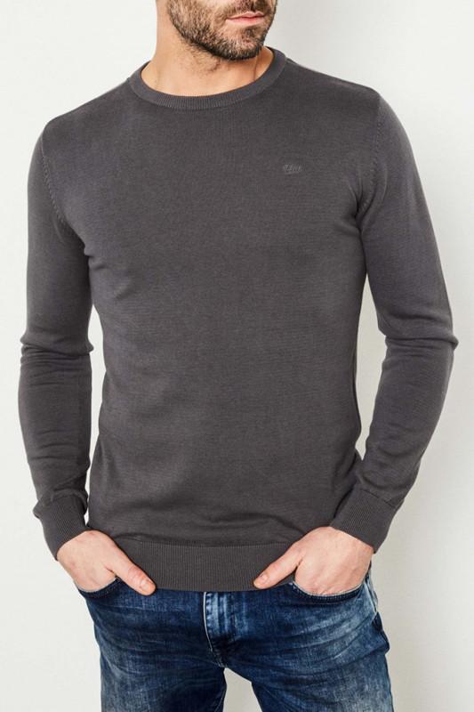 "PETROL Herren Pullover - ""Knitwear R-Neck light steal"""