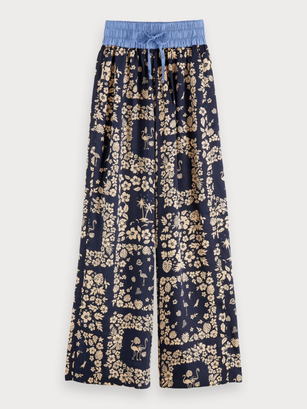 "MAISON & SCOTCH Damen Hose - ""Wide leg pants w contrast wais"""
