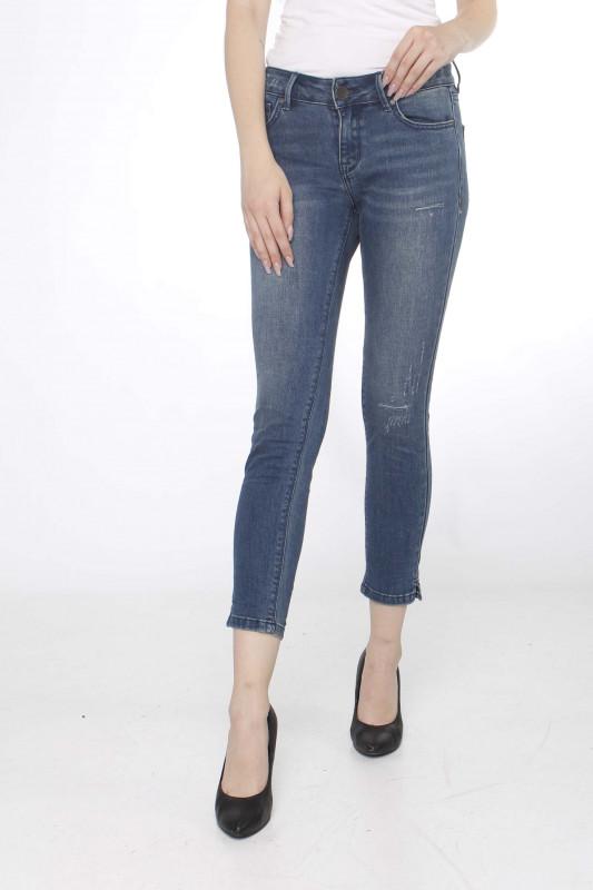 "BUENA VISTA Damen Jeans - ""ITALY 7/8 Stretch Denim destroy blue"""