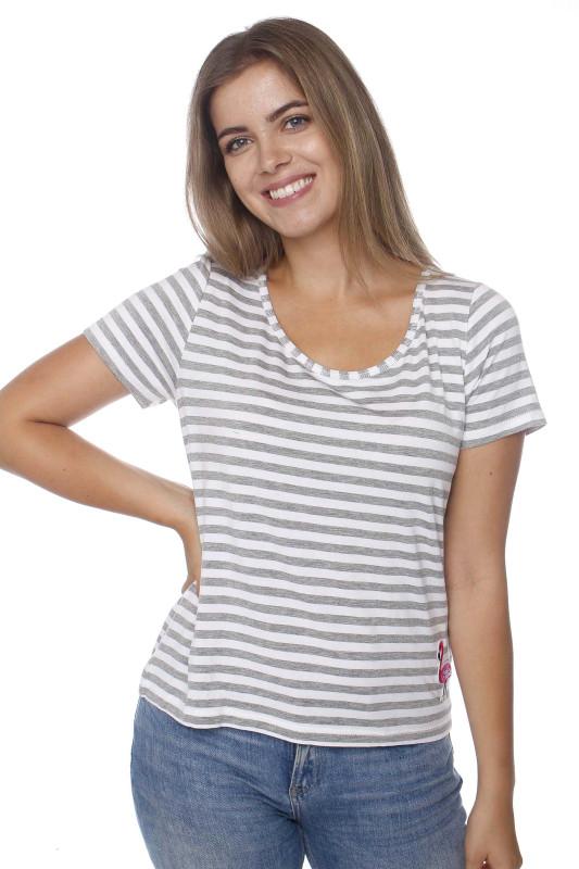 "STRANGE Damen T-Shirt - ""MAGDA white-grey"""