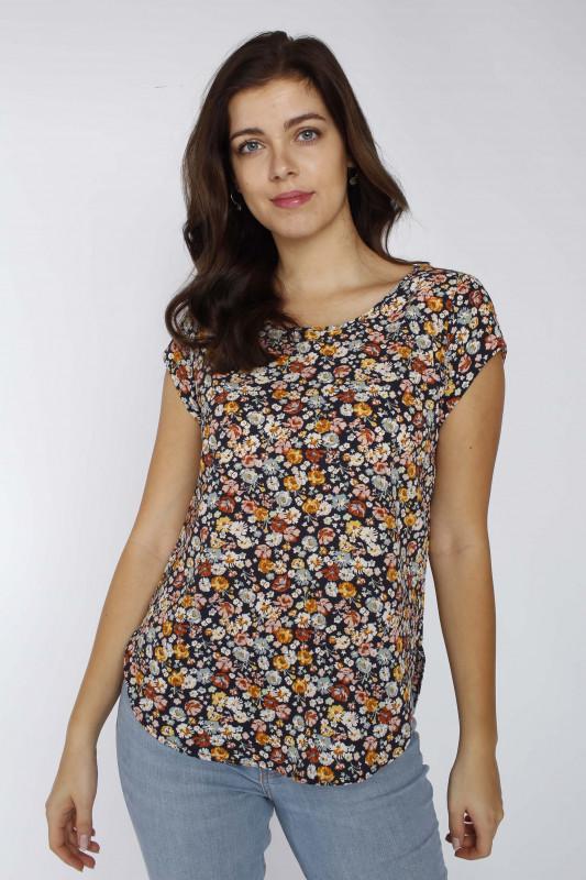 "ONLY Damen T-Shirt - ""Vic SS night sky/nina flower"""
